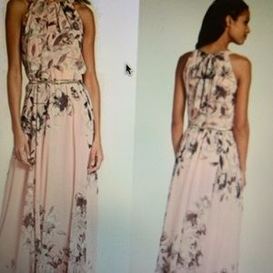 Eliza J Blush Floral Maxi Dress- size 10